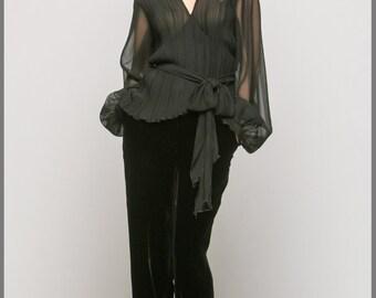 Fashionable and stylish black blouse from ТМ «Konstantin Miro by FashionArt»