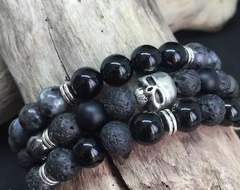 The Triple - Black & Grey Skull