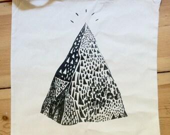 Mountain Tote Bag Screen Print