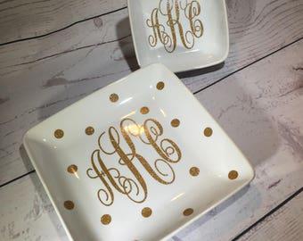Monogram Jewelry Trays