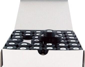 Black, L-Style, Sideless, Prewound Embroidery Bobbins - 144 Per Box