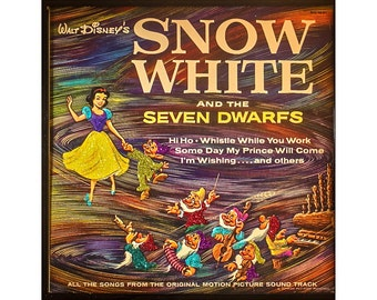 Glittered Snow White and the Seven Dwarves Album Art
