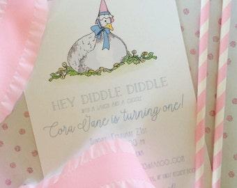 Mother Goose Birthday Invitation