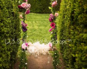 Floral Swing Digital Backdrop