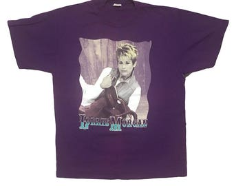 Vintage Lorrie Morgan shirt - Lorrie Morgan - Country music tee - country music - 90's-  concert - size XL - country shirt - country singer