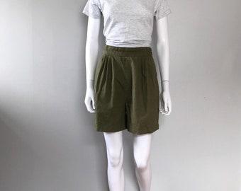 Vintage Green Woven Shorts