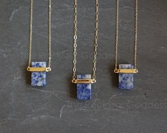 Sodalite Necklace / Sodalite / Sodalite Pendant / Layering Necklace / Blue Sodalite / Gemstone Necklace / Blue Stone