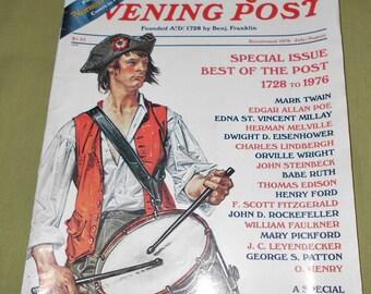 July August 1976 Bicentennial Issue of  Saturday Evening Post Magazine