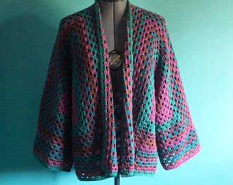 Hexagon Granny Square Cardigan