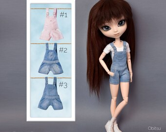 Dungarees, top and socks for Pullip, Pure Neemo, Momoko, Blythe, Dal, Obitsu 27, Obitsu 23 dolls