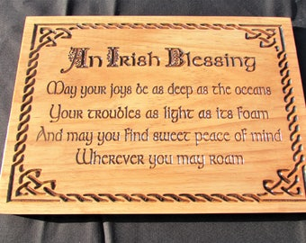 Irish Blessing; 16 inch Irish Blessing Wood sign;Irish Decor