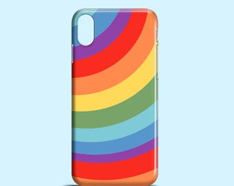 Rainbow iPhone X case / iPhone 8 / 8 Plus / iPhone 7 / iPhone 7 Plus / Bright iPhone Se case / colourful iPhone 6/6S / bold iPhone 5/5S case
