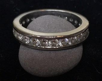 Platinum diamond full eternity band