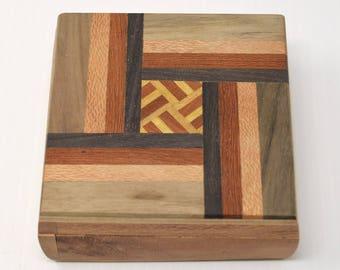 Unique Handmade Wooden Cedar Memory Box, Handmade Wood Gift Box, Cedar Wood Gift Box, Jewelry Box