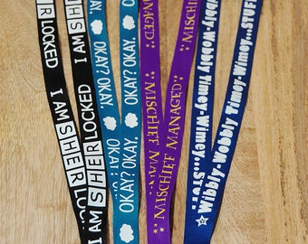 Geeky Fandom Lanyards, your choice.