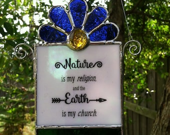 Stained Glass Nature Lover suncatcher