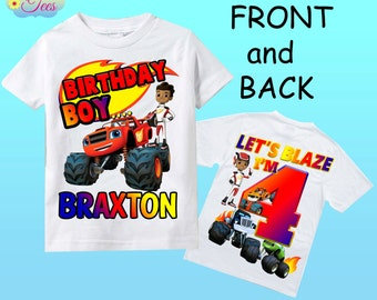 Blaze and the monster machines shirt/ blaze and the monster machines birthday shirt/ birthday boy shirt/ blaze birthday shirt /167