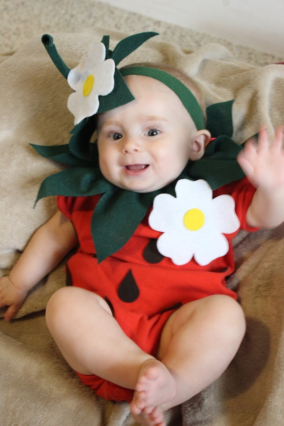Baby diy strawberry do it yourself baby costume halloween solutioingenieria Images