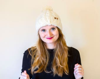 bobble's your uncle // hand knitted alpaca bobble hat