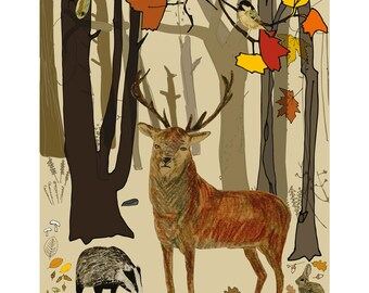 Naturama Autumn Cover - limited edition print
