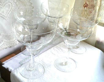Anniversary Gift, Wedding Gift, Bridesmaid Gift, Margarita Stemware, Crystal Stemware, Princess House, Heritage Pattern, 7 Inches Tall