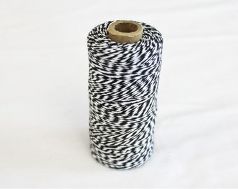 Spool of Black and White Bakers Twine - 240 yards