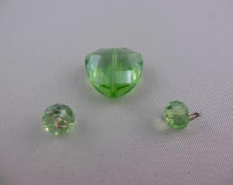 Green mix color Swarovski pearls