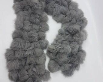 Real fur scarf bunny rabbit