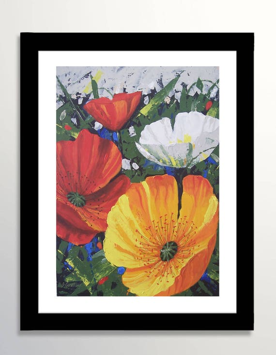 Poppies painting poppies flower painting original painting mightylinksfo
