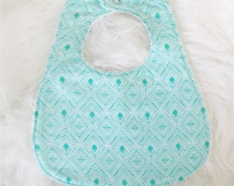 Turquoise Tribal  || Bib & Burp Cloth