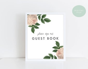 PRINTABLE Guest Book Sign Printable  Vintage Wedding Sign  Rustic Wedding Decor  Wedding Sign  INSTANT DOWNLOAD