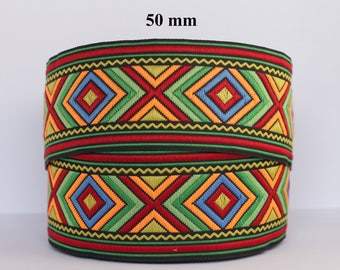 to order! 10 m 50 mm wide jacquard embroidered Ribbon