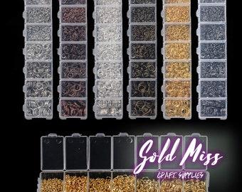 Joyería DIY Kit enorme lote 1450pc venta por mayor joyería resultados plata y oro, fácil DIY joyería suministros como hacer alambre de la joyería