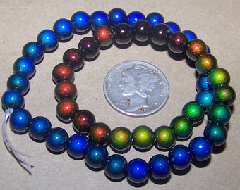 Strand of 6mm  Micro Mood / Mirage Beads
