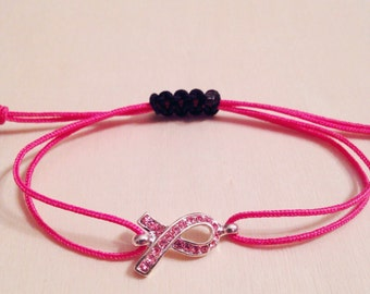 Breast Cancer Awareness Bracelet, Breast Cancer Survivor Jewelry, Pink Ribbon bracelets