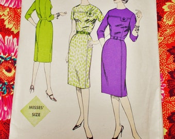 "Le Roy Sewing Pattern - Early 1960's - Woman's One-Piece Dress - Size 12 bust 32"" - mpn 655 - Used and complete"