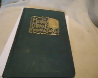 Antique 1893 The Human Comedy Honore de Balzac Hardback Book, collectable