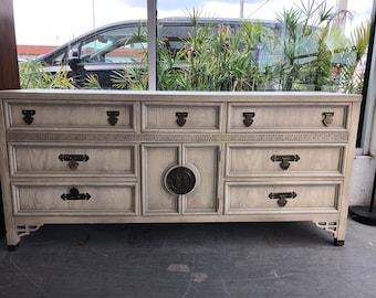 Chippendale Shangri-La Long Dresser in the Hollywood Regency Style