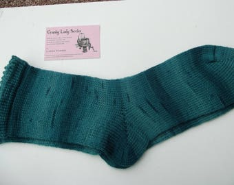 Hand Cranked and Hand Finished socks