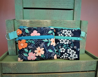 PDF Fabric Double Zipper Pouch, Coin and Cash Purse