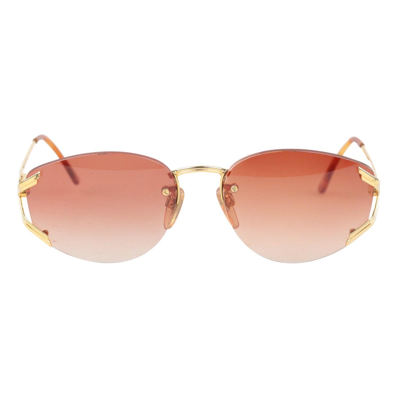 c9771c620a Authentic GIANNI VERSACE Vintage Rimless Sunglasses V97 Col