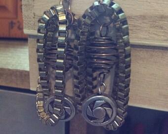 E0013-28 Steampunk Earrings