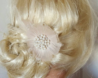 Fascinator, Wedding Hair Clip, Wedding Hair Accessories,Fascinator,Vintage style,Bridal Fascinator,Feather Hair Clip,Wedding Bridal Comb