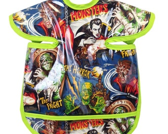 Classic Monsters Apron Bib