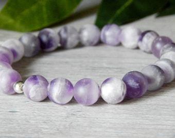 Amethyst Bracelet, Purple Bracelet, Amethyst Jewelry, February Birthstone, Beaded Bracelets for Women, Gemstone Bracelet, Gemstone Jewelry