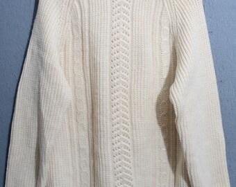 ROBE DI KAPPA-sweater snowflake 80s vintage casual sweater TG 50 (e68)