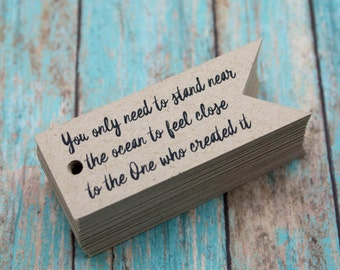 Custom Tags - Blank or With Text - Kraft Tags - Custom Price Tags - Custom Jewelry Tags - Wide Banner Tags