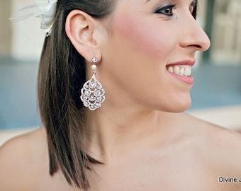 pearl earrings chandelier earrings teardrop earrings bridesmaid earrings bridal earrings dangle earrings crystal wedding earrings SUSANE