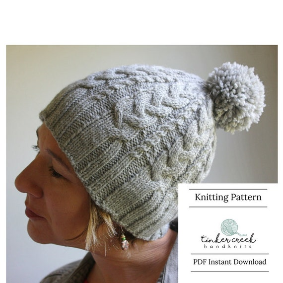 Knitting Pattern For Womens Cable Knit Hat Knitting Patterns