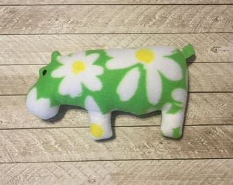 Large OOAK Hippo Dog Toy with squeaker
